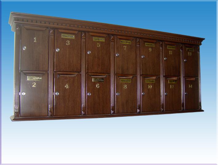 Residence için italyan ağaç kaplama apartman posta kutusu 14